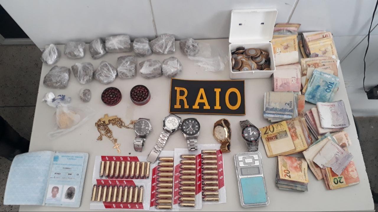 Ações Policiais do BPRAIO resultam em apreensão de boa quantidade de droga e munições nas cidades de Juazeiro do Norte, Brejo Santo