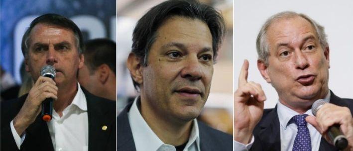 Resultado de imagem para Bolsonaro e Haddad oscilam para baixo na nova pesquisa Ibope