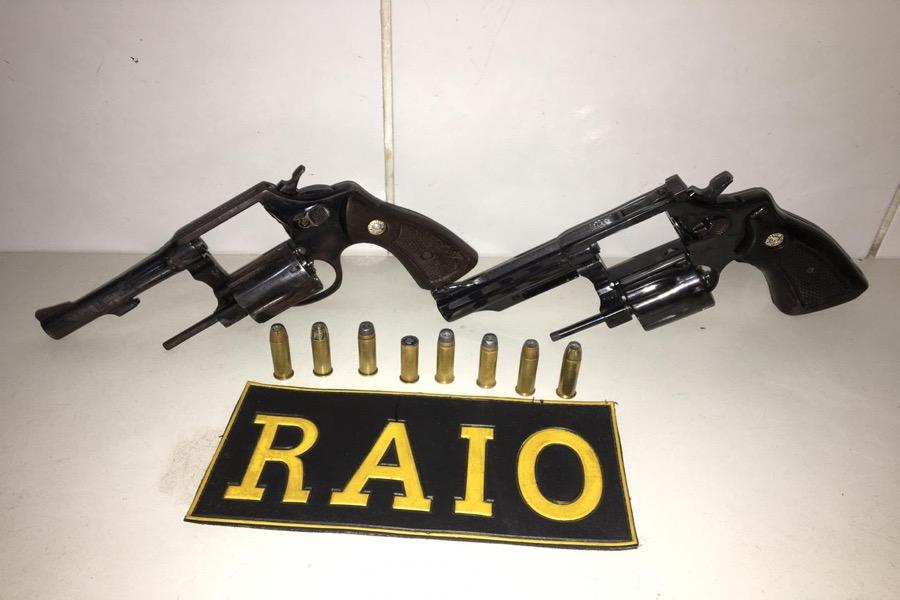 Em apenas três dias, sete armas de fogo foram apreendidas nas cidades de Brejo Santo, Jati e Juazeiro do Norte-CE
