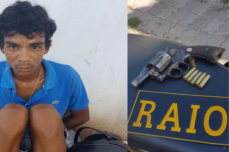Foragido de cadeia pública de Pernambuco pratica roubo contra mulher  e é preso minutos depois com arma de fogo em Juazeiro do Norte-CE