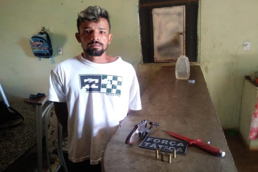 Acusado de homicídio em Missão Velha- CE é preso após ser localizado com arma de fogo em Abaiara-CE