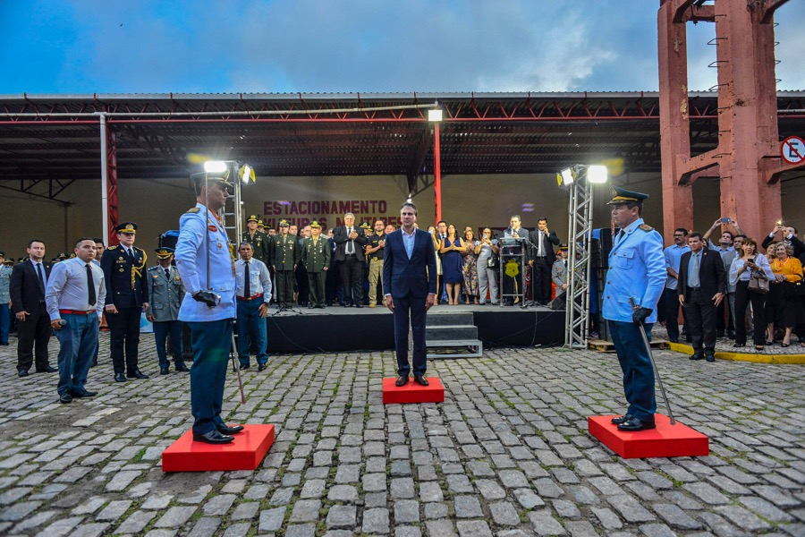 Governador destaca trabalho do Corpo de Bombeiros na solenidade de passagem de comando da instituição