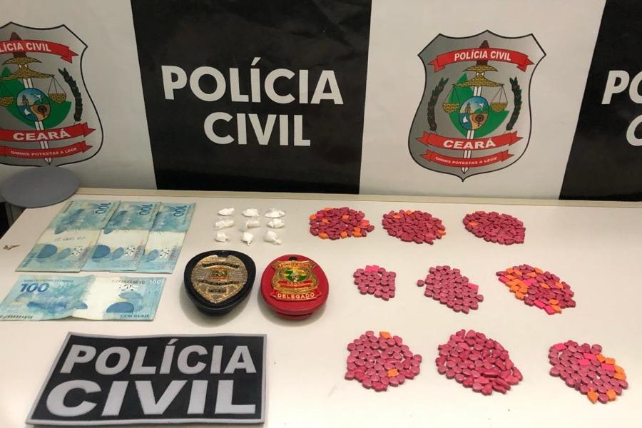 Polícia Civil apreende grande quantidade de droga sintética, maconha e cocaína em Juazeiro do Norte-CE