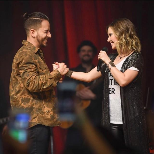 Sandy e Junior cantam juntos em São Paulo — Foto: Reprodução/Instagram