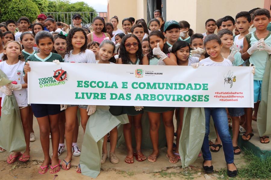 Escola do bairro Grossos promoveu mutirão contra as arboviroses em Várzea Alegre-CE