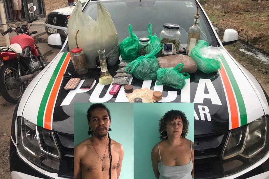 Muita droga apreendida e estudante preso em Juazeiro do Norte-CE