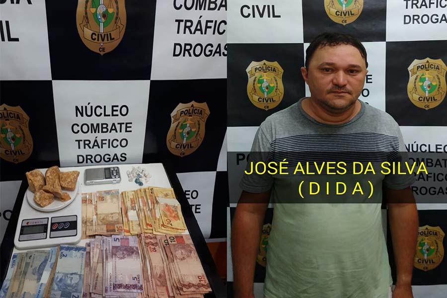 Polícia Civil apreende drogas e prende acusado em Juazeiro do Norte-CE