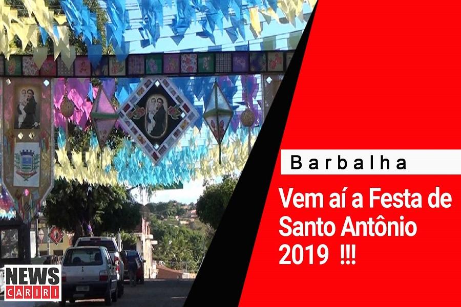 Vem aí a Festa de Santo Antônio 2019 em Barbalha, confira as novidades e programação para este ano