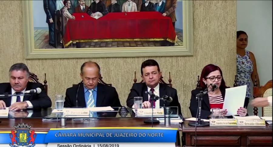 Ao vivo: assista a sessão da Câmara Municipal de Juazeiro do Norte