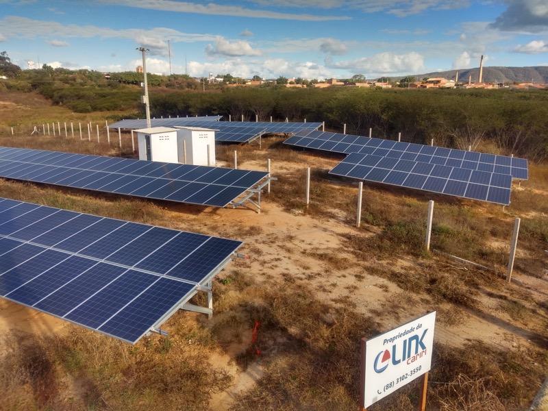 Foto: A Link Cariri provedor de internet da região do Cariri conta com a geração de energia totalmente sustentável para as demandas da empresa.