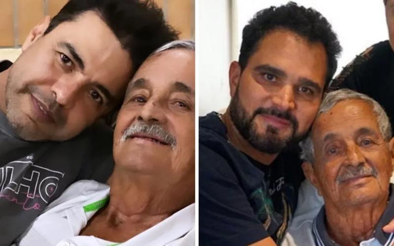 Francisco de Camargo com filhos Zezé e Luciano — Foto: Reprodução/Instagram