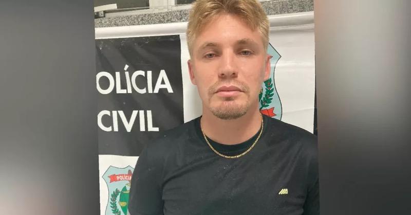 David Alves Bezerra, 30 anos, responde a mais de 70 estelionatos nos estados de Santa Catarina, Roraima, Mato Grosso e no Distrito Federal. — Foto: Polícia Civil/ Divulgação