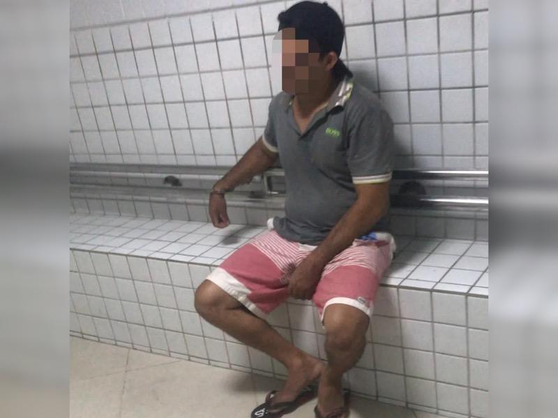 Homem de 35 anos foi capturado pela PM em uma casa no Porto das Dunas, em Aquiraz. — Foto: Polícia Militar/ Divulgação