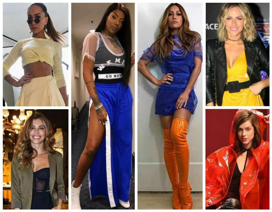 Famosas mostram tendências para 2018 (Fotos: AgNews/Reprodução/Instagram) Foto: Elas no Tapete Vermelho