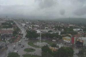 Juazeiro do Norte deverá receber chuvas nos próximos dias, conforme a previsão da Funceme. — Foto: Reprodução/TV Verdes Mares