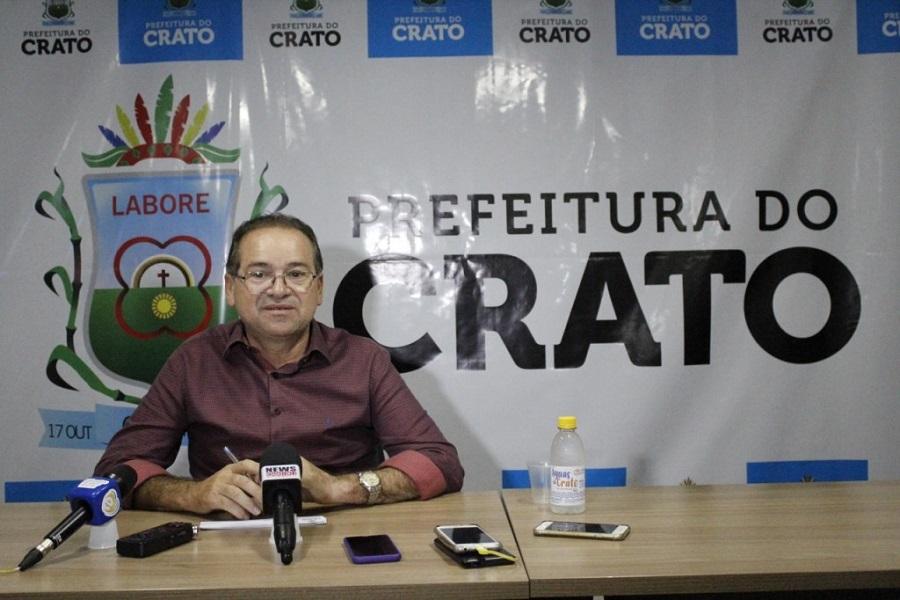 Prefeito do Crato Zé Ailton Brasil. Foto: prefeitura do Crato
