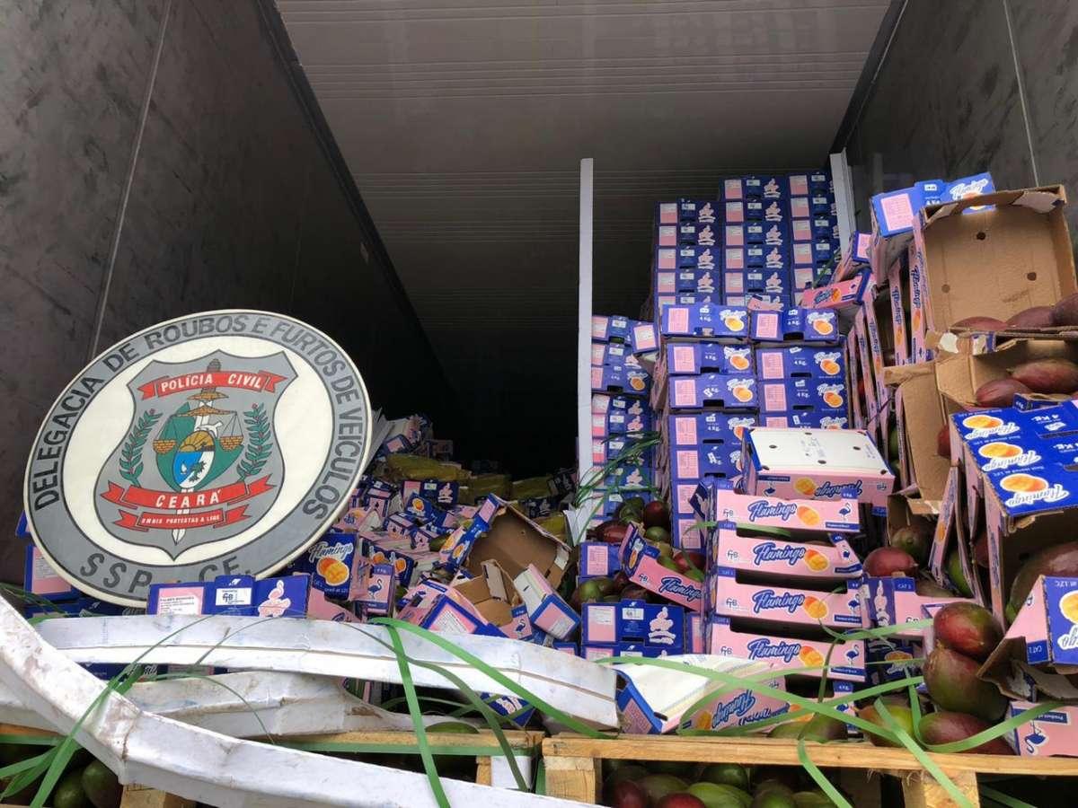 A ação é continuidade do trabalho investigativo da DRFVC que, em outubro de 2019, apreendeu 607 kg de cocaína que estavam camuflados em uma carga de manga