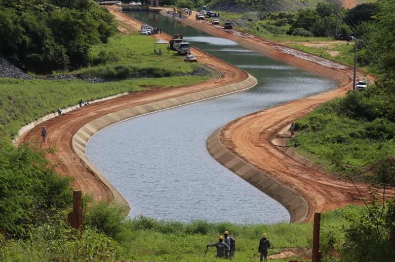 Projeto Rio São Francisco em trecho que passa pelo Ceará — Foto: Nívia Uchoa/Governo do Ceará