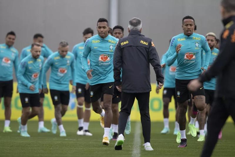 Jogadores da seleção brasileira vão disputar a Copa América — Foto: Lucas Figueiredo / CBF