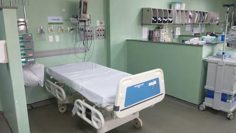 Leito de UTI no Hospital Geral de Fortaleza (HGF) entregue em 27 de fevereiro — Foto: HGF/Divulgação